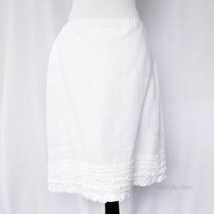 EILEEN FISHER • White Irish Linen Skirt